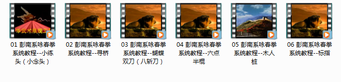彭南系咏春拳系统教程_木人桩小念头拳谱