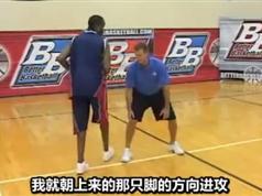 NBA篮球巨星实战技巧_招牌步法教学_魔术师约翰逊防守训练