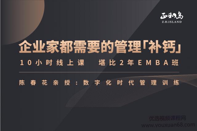 陈春花―中国企业数字化转型必修课
