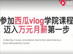 西瓜学院vlog培训教学视频全集(第十一期)