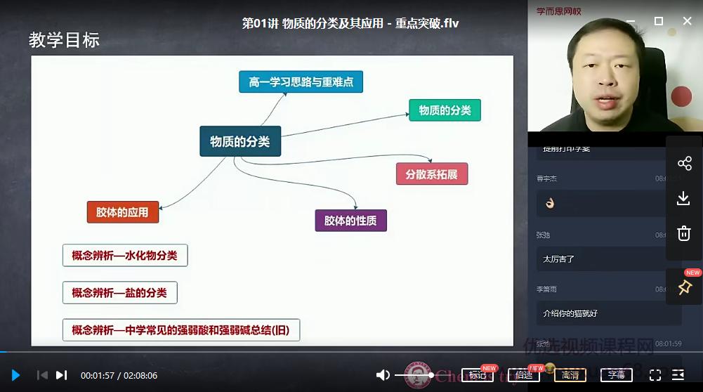 【2020秋目标清北】高一化学新人教秋季直播班(郑瑞)