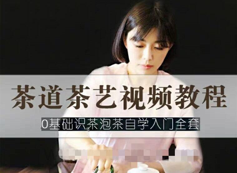 茶艺茶道视频教程 零基础识茶泡茶自学入门全套