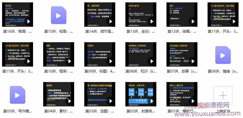 图片[2]-新媒体商业IP训练营;写作,才是—切新媒体的基础学习 - 网创资源库-网创资源库